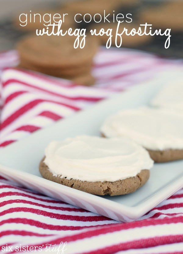 Ginger Cookies with Egg Nog Frosting Cookies