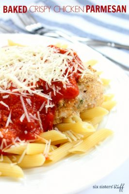 Baked Crispy Chicken Parmesan Recipe