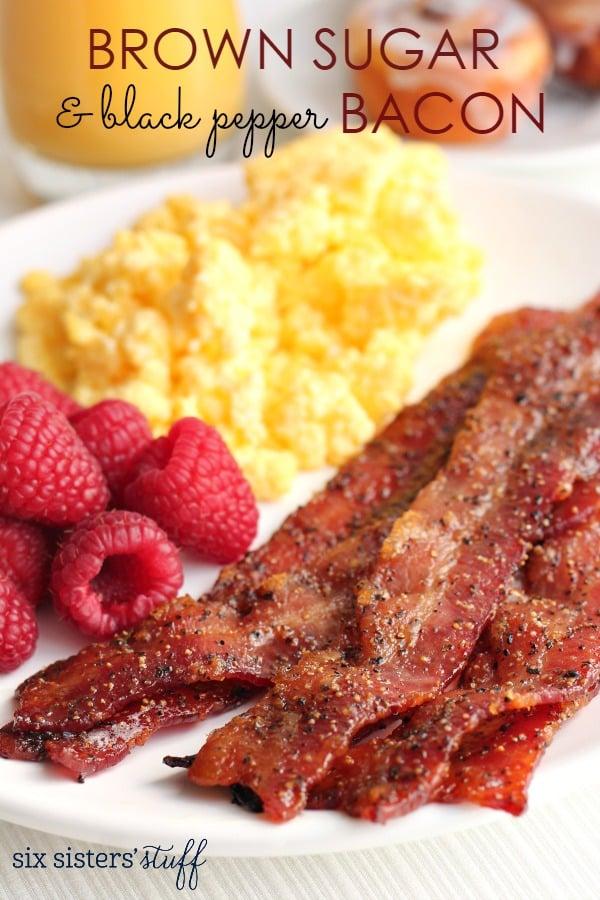 Brown Sugar and Black Pepper Bacon Recipe