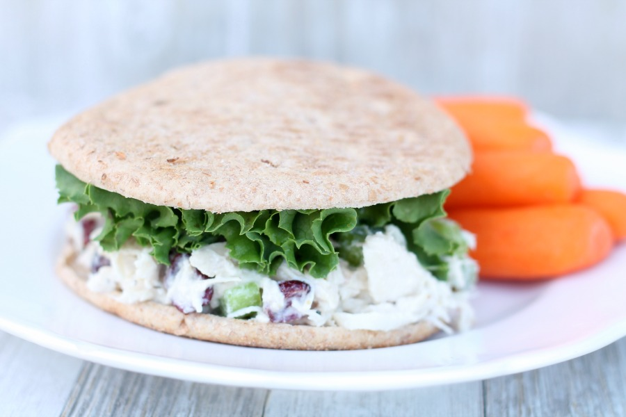 Delicious Skinny Chicken Salad Sandwich