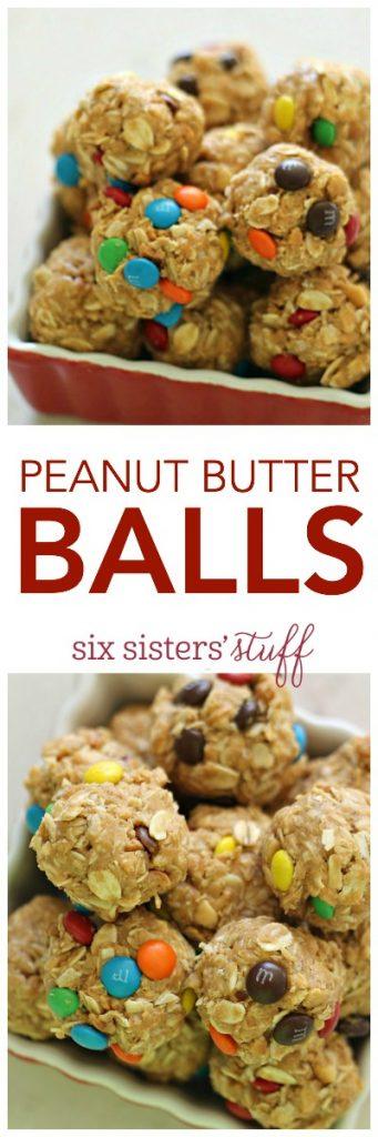 Peanut Butter Balls from SixSistersStuff