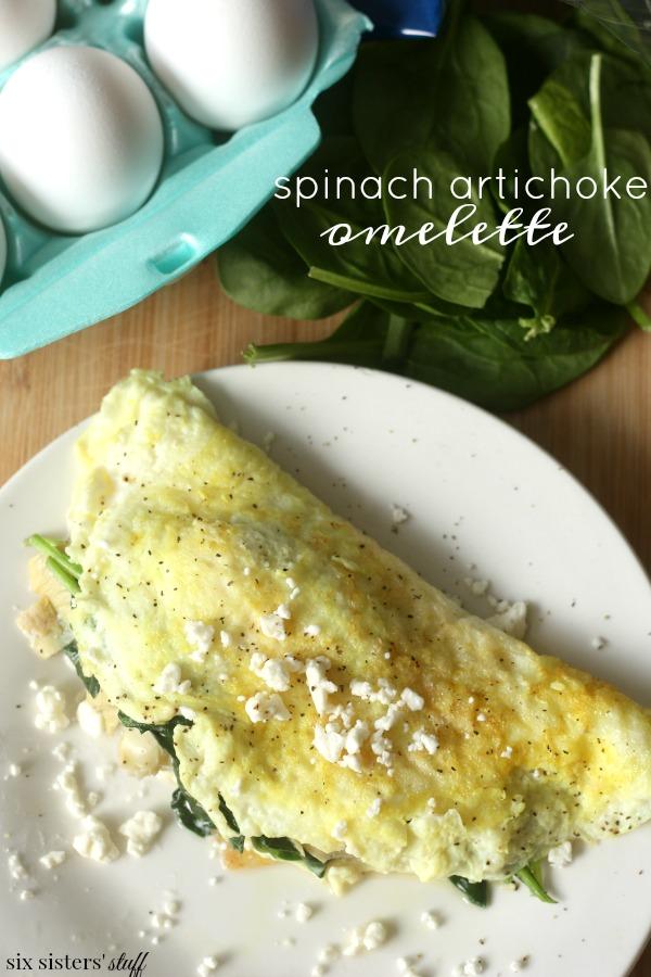 Easy Spinach Artichoke Omelette