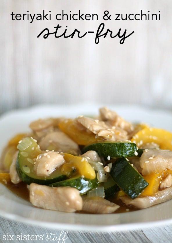 Teriyaki Chicken & Zucchini Stir-Fry Recipe