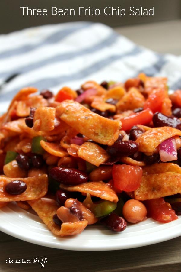 Three Bean Frito Chip Salad Recipe