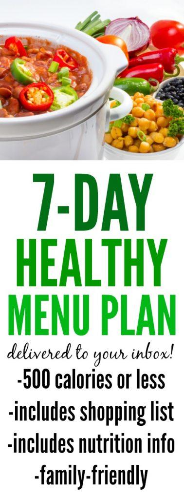 Weekly Healthy Menu Plan 1
