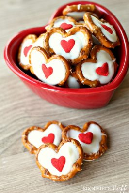 White Chocolate Pretzel Hearts