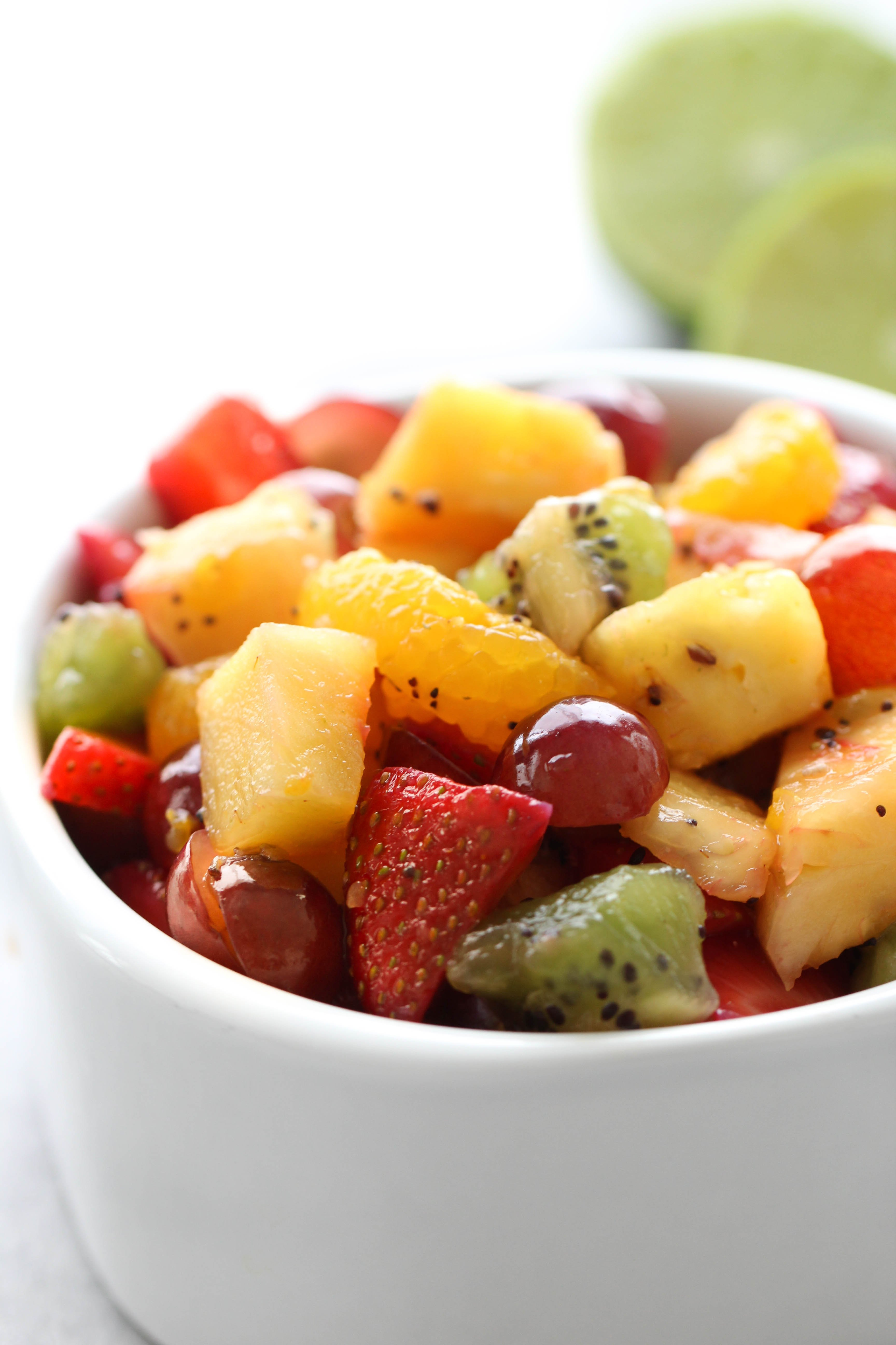 Honey Lime Fresh Fruit Salad