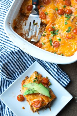 Instant Pot Shredded Beef Enchiladas