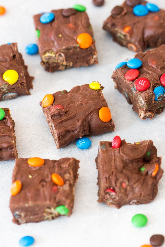 3 Ingredient M&M Fudge Recipe