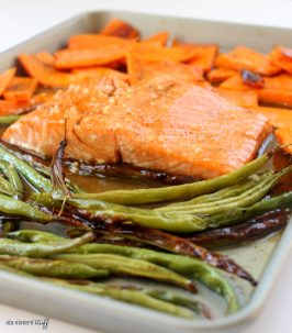 One Pan Honey Glazed Salmon Dinner with Kroger Clicklist