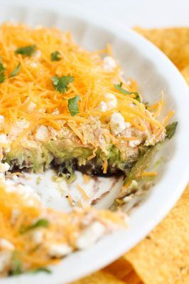 Black Bean & Cotija Cheese 6 Layer Dip