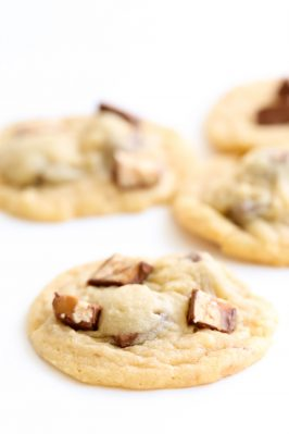 Soft Snickers Cookies