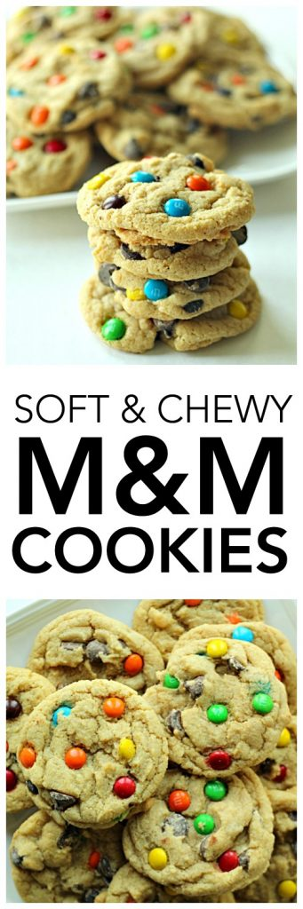 Chewy M & M Cookies - SixSistersStuff