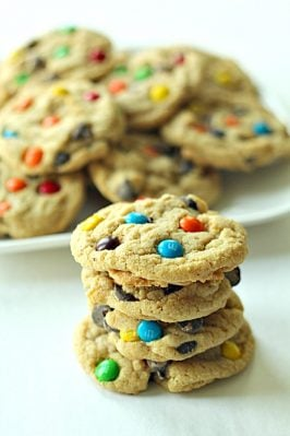 Soft Batch Chewy M and M Cookies