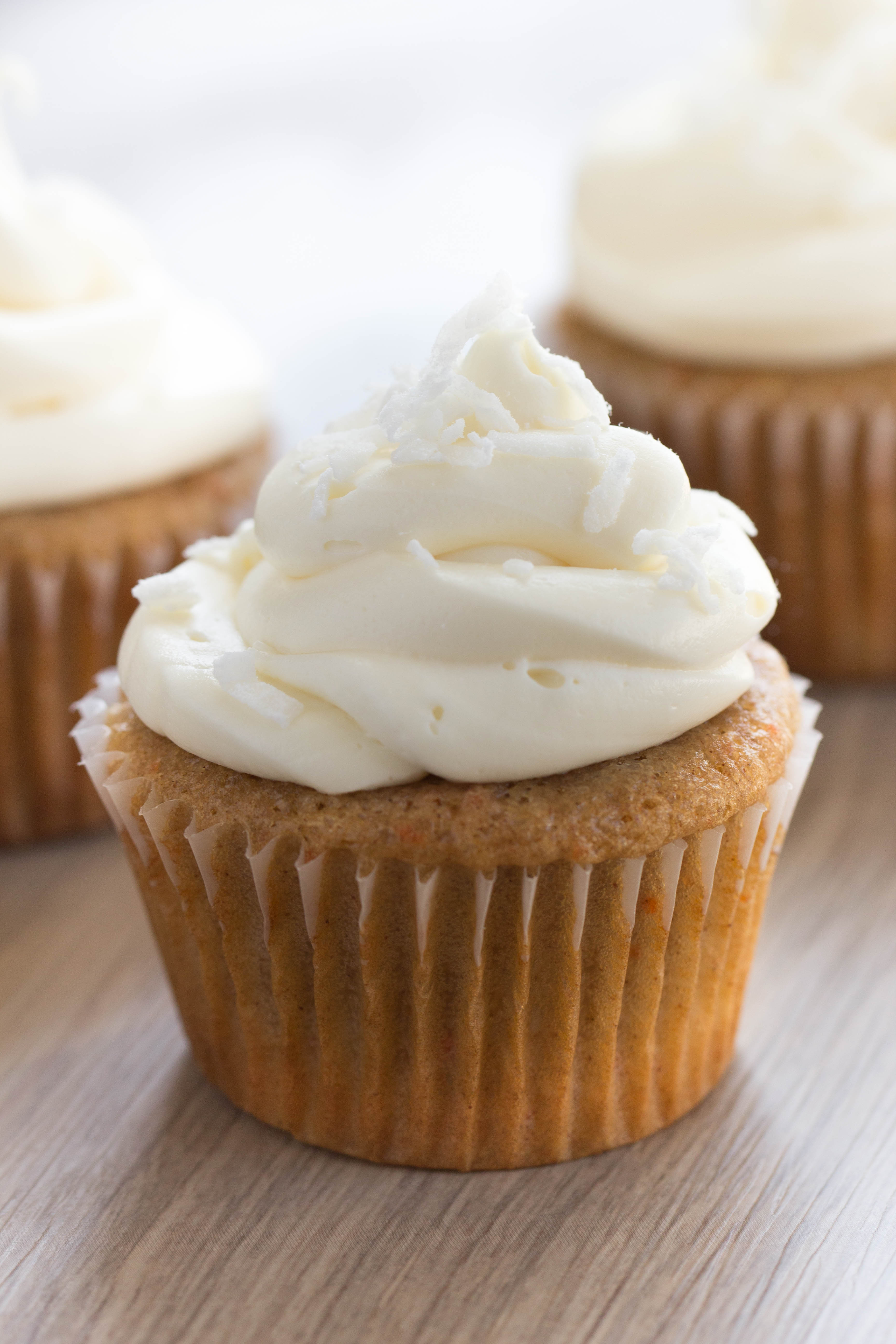 Coconut Carrot Cake Cupcakes Recipe