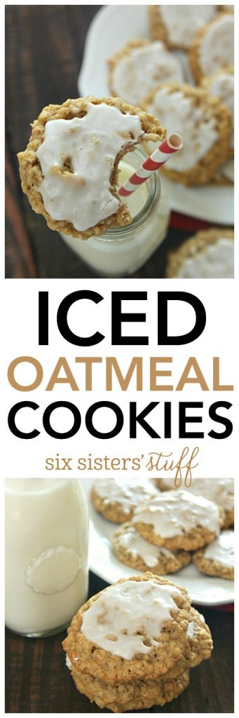 Iced Oatmeal Cookies - SixSistersStuff