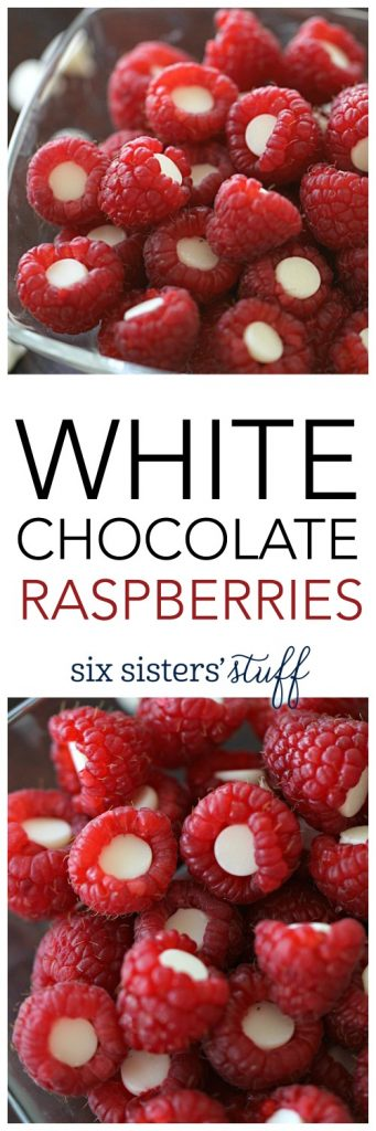 White Chocolate Raspberries from SixSistersStuff