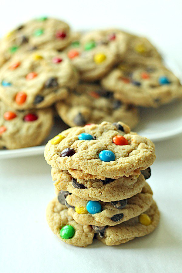Soft Batch Chewy M and M Cookies Recipe