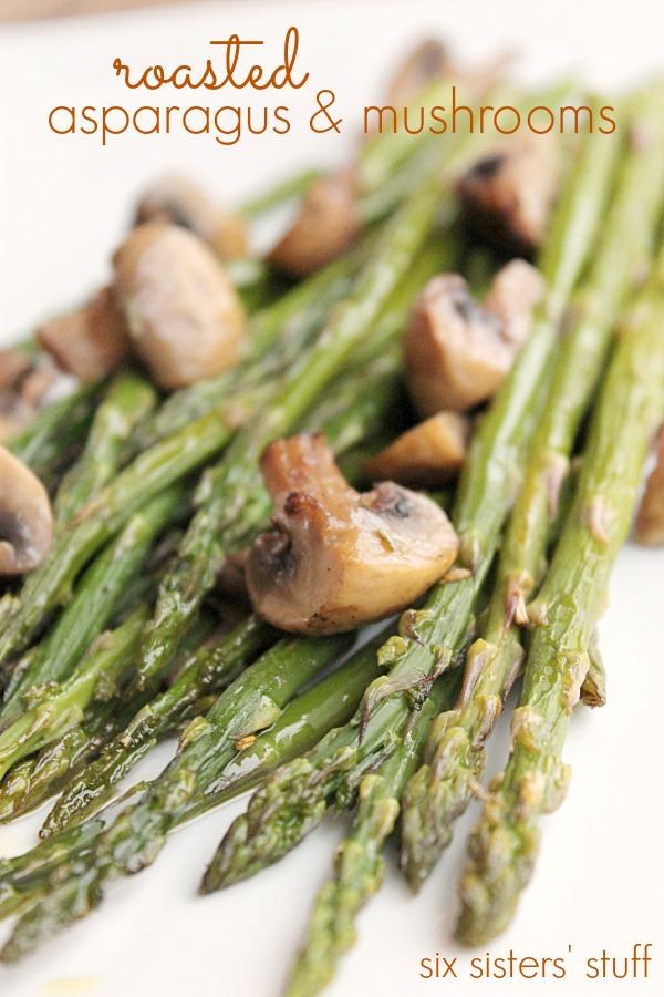 Roasted Aspragus and Mushrooms
