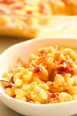 how to make macaroni and cheese with bacon at home