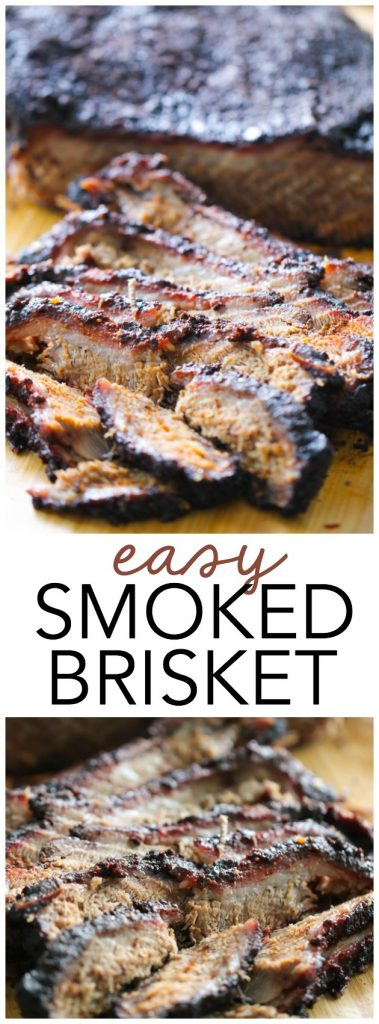 Easy Smoked BBQ Brisket from SixSistersStuff.com