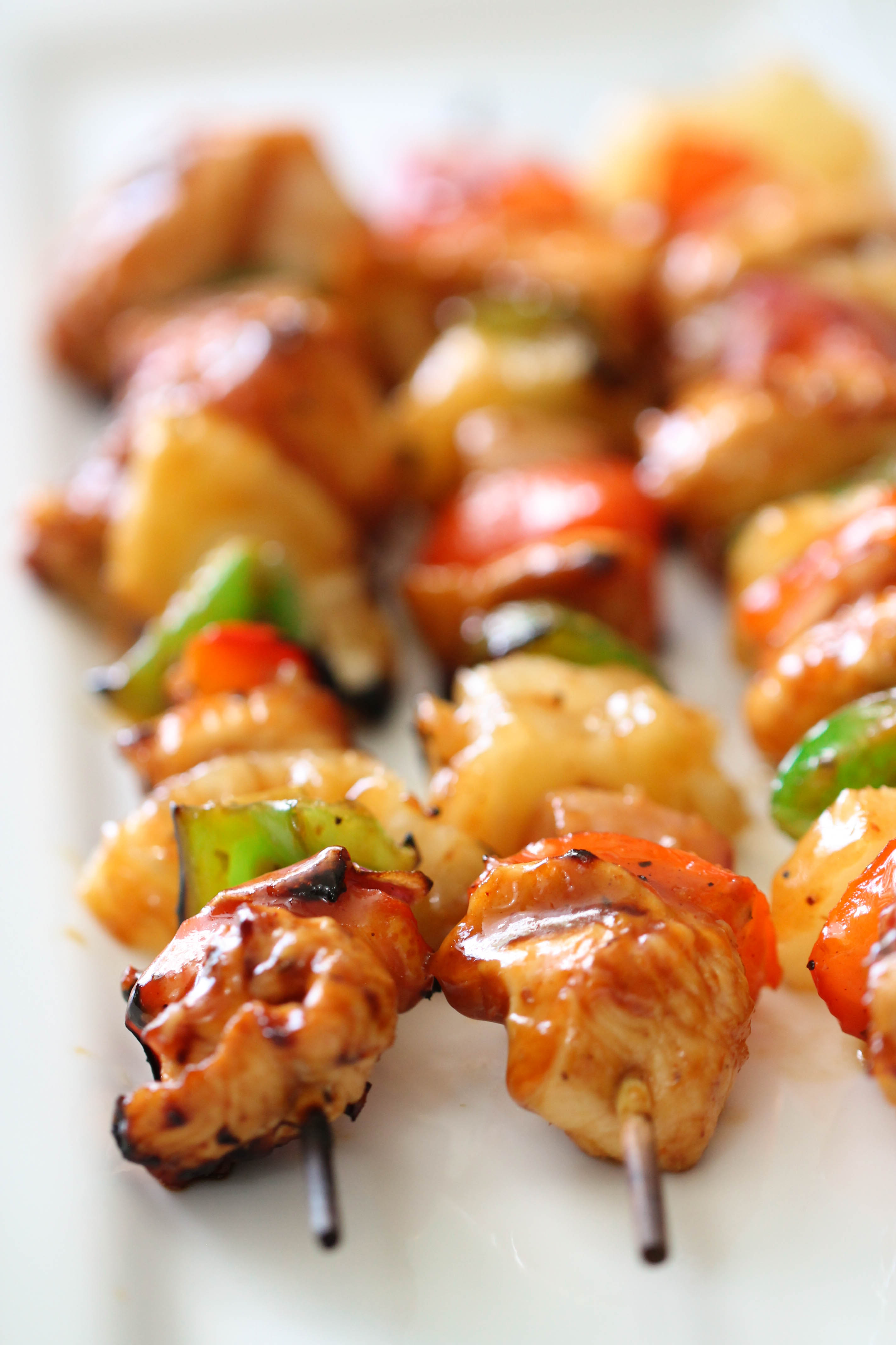 Hawaiian BBQ Chicken Kabobs Recipe