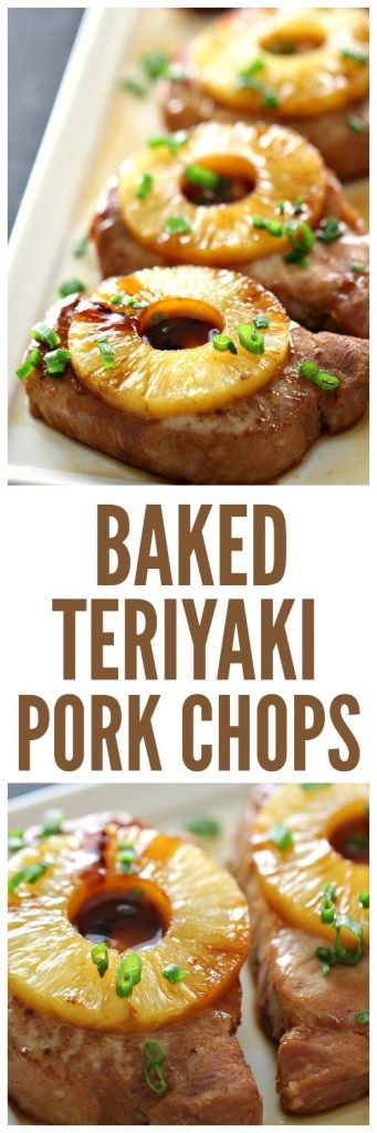Baked Teriyaki Pork Chops on SixSistersStuff
