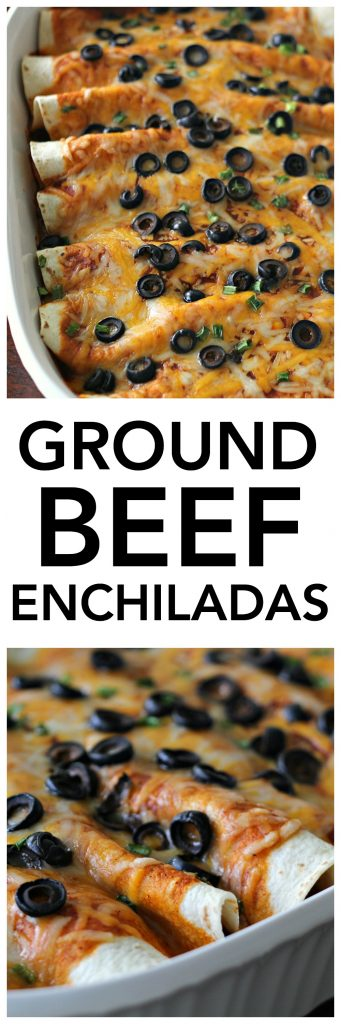 Ground Beef Enchiladas SixSistersStuff