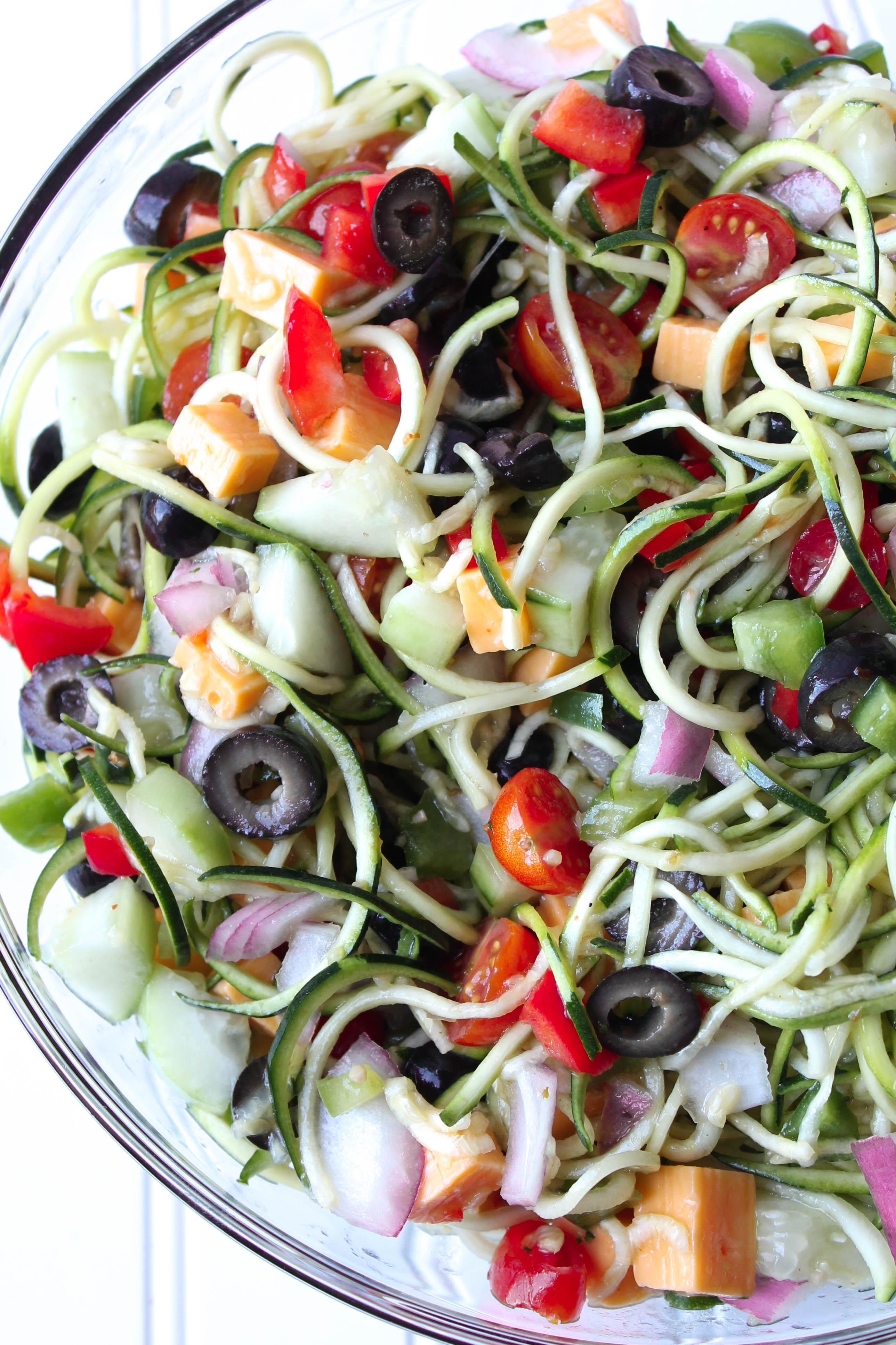 Zoodle Spaghetti Salad Recipe