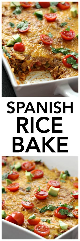 Spanish Rice Bake from SixSistersStuff