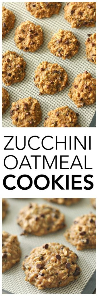 Zucchini Oatmeal Cookies on SixSistersStuff