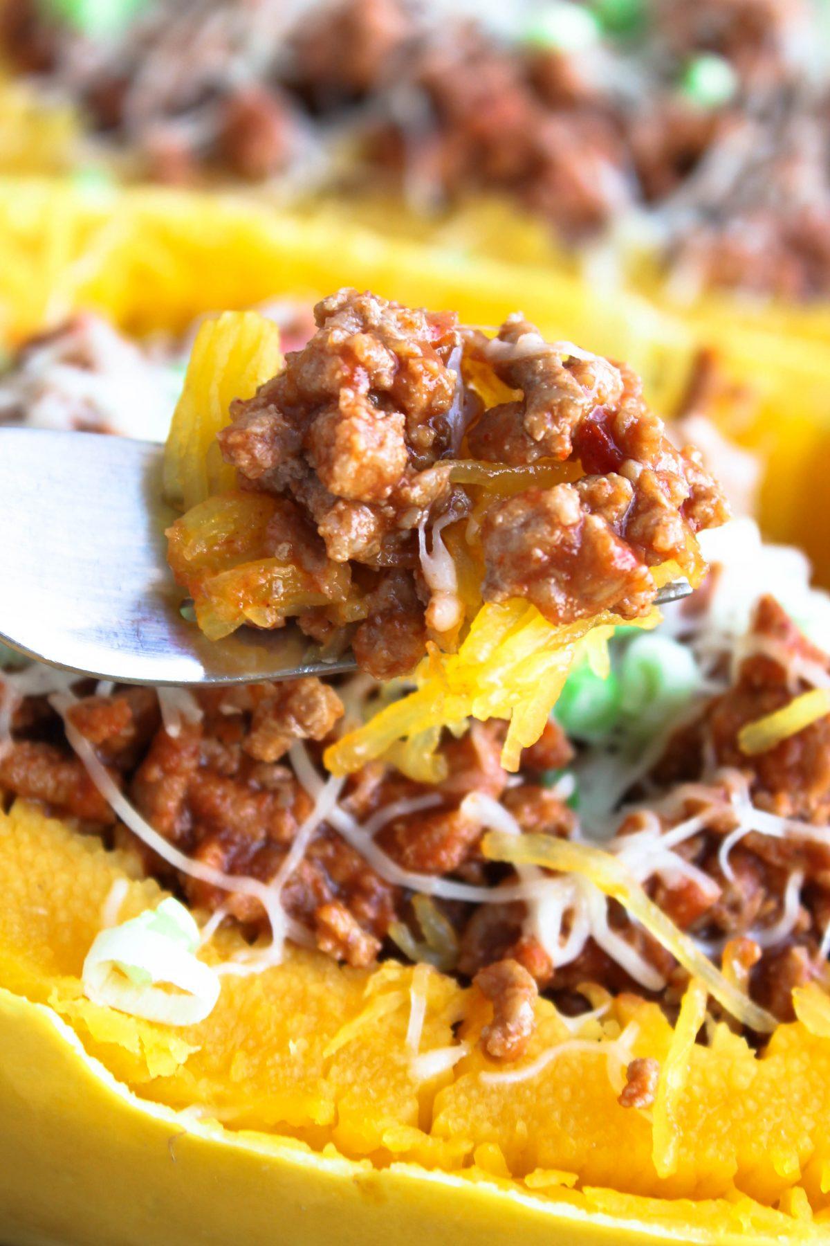 Spaghetti Squash Baked Sloppy Joes Recipe