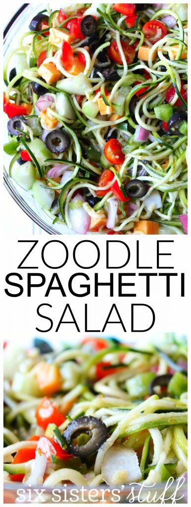 zoodle spaghetti salad 1