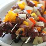Balsamic Steak and Vegetable Kabobs
