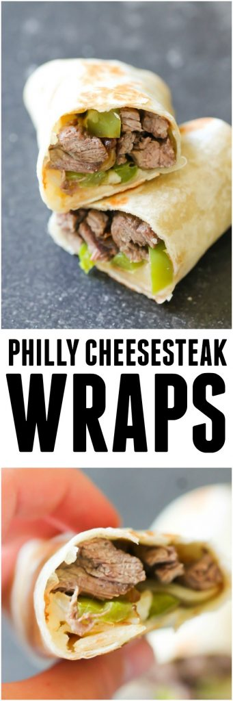 Philly Cheesesteak Wraps from Six Sisters' Stuff
