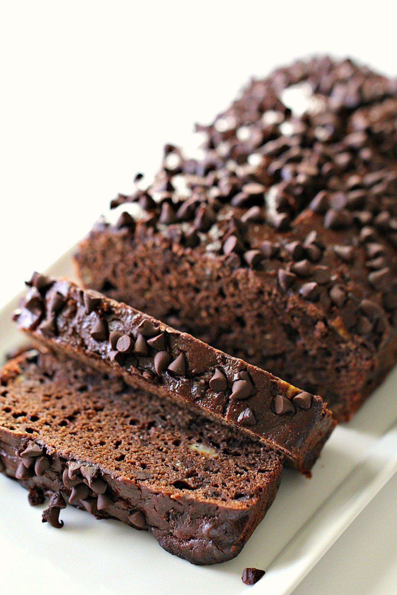 Healthier Chocolate Banana Bread Recipe