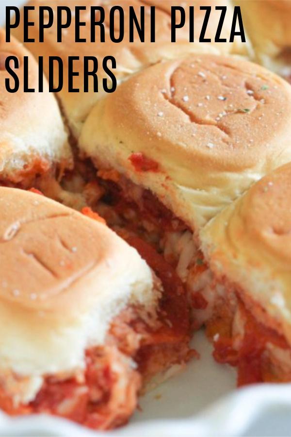 Pepperoni Pizza Sliders in pan