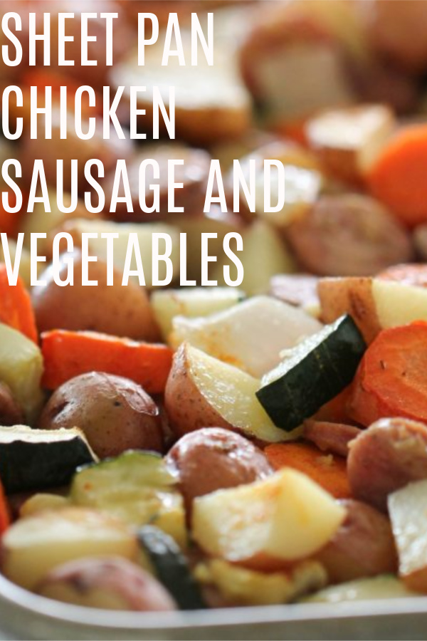 Sausage and vegetables cooked