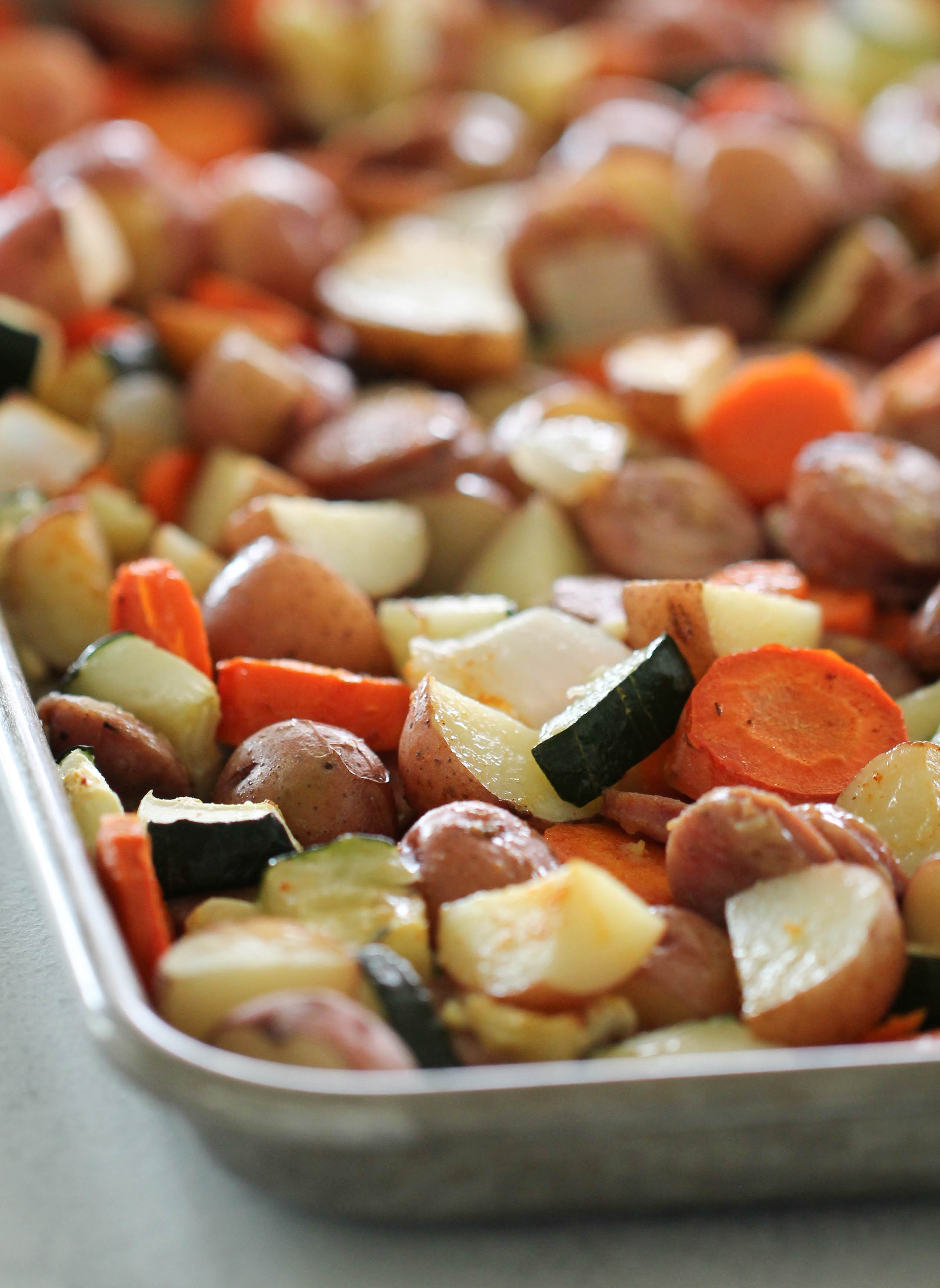 Sheet Pan Chicken Sausage and Vegetables Recipe