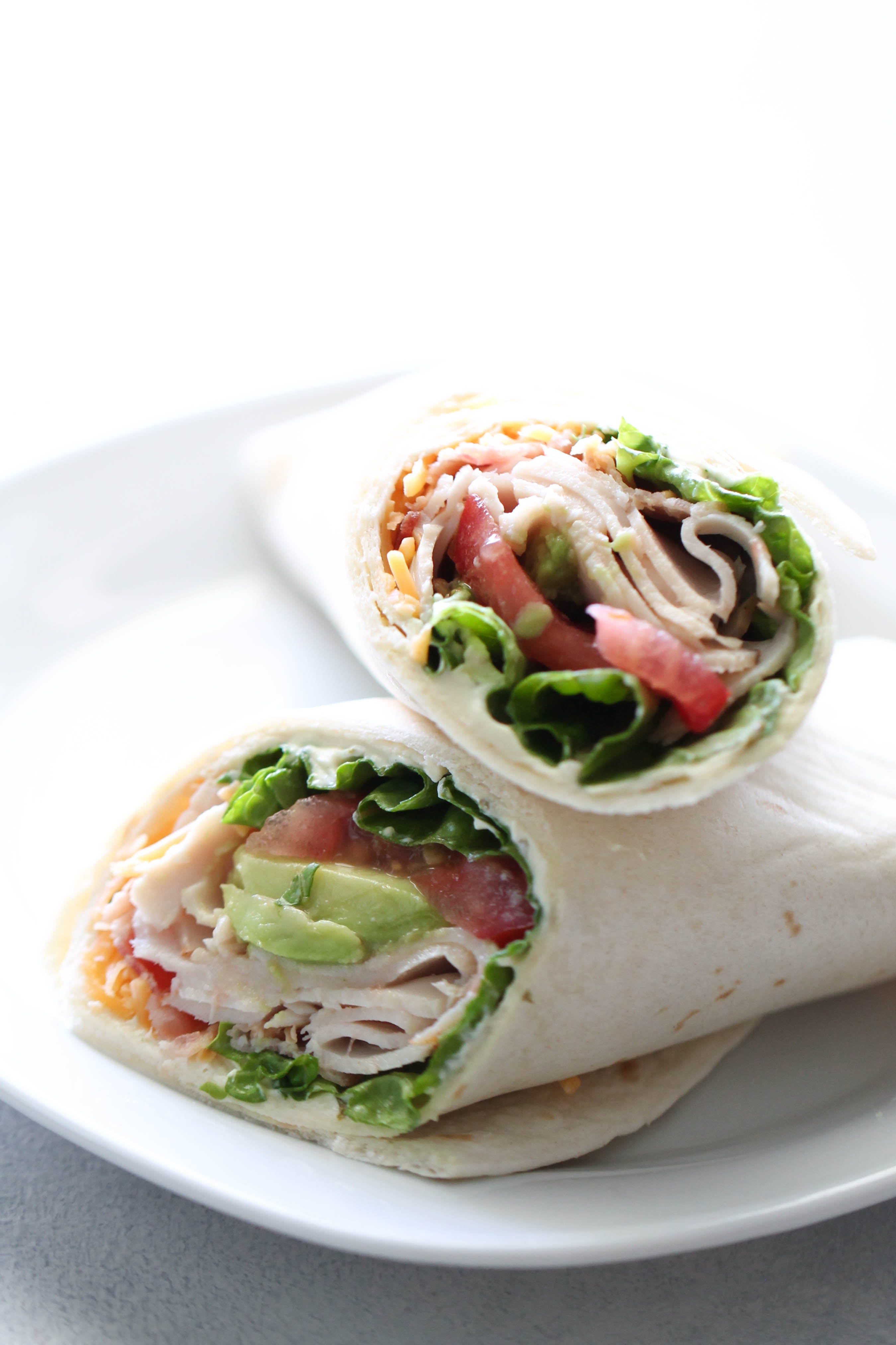 Turkey Bacon Avocado Wraps Recipe