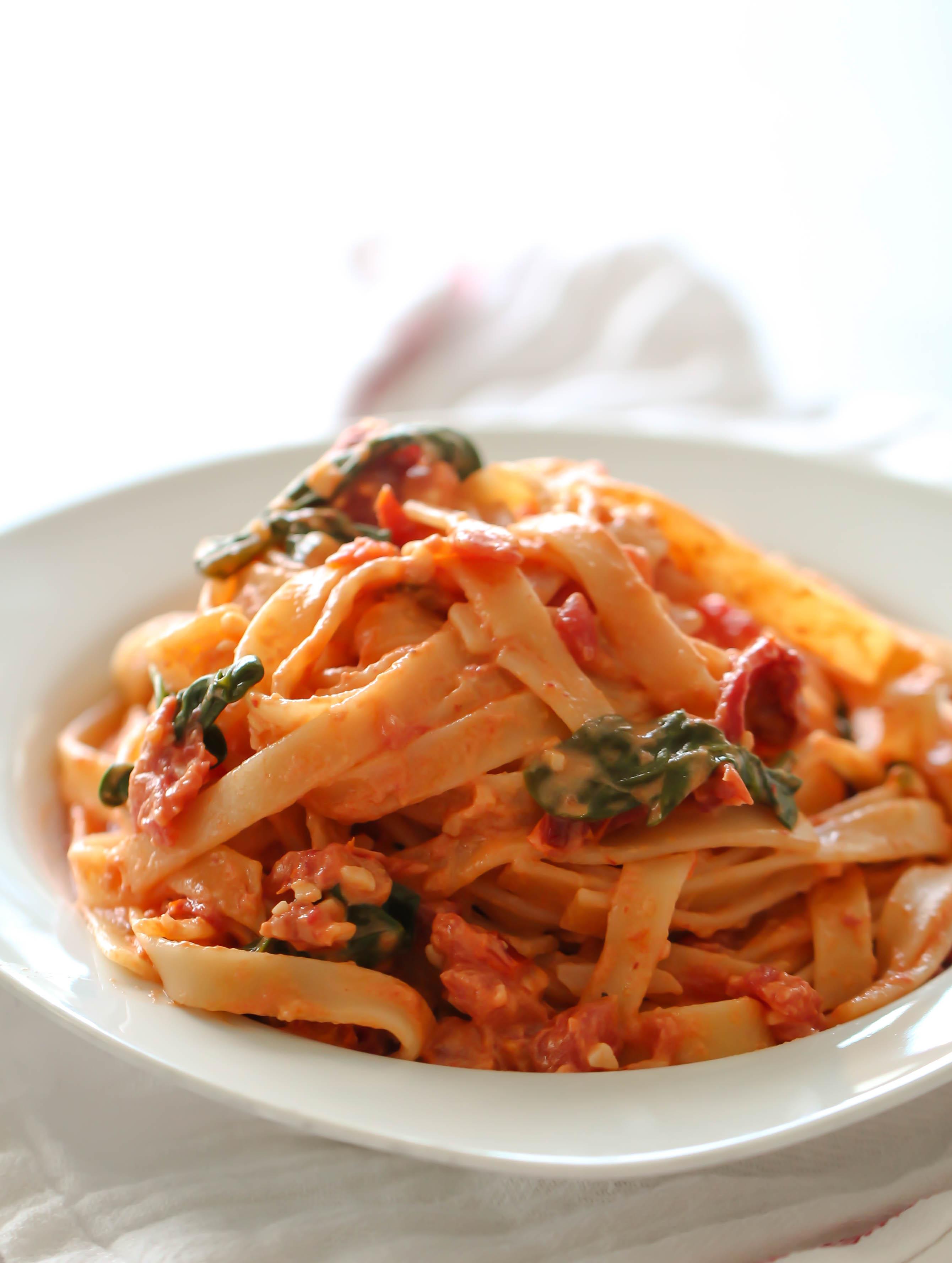 Sun-Dried Tomato Fettuccine Recipe