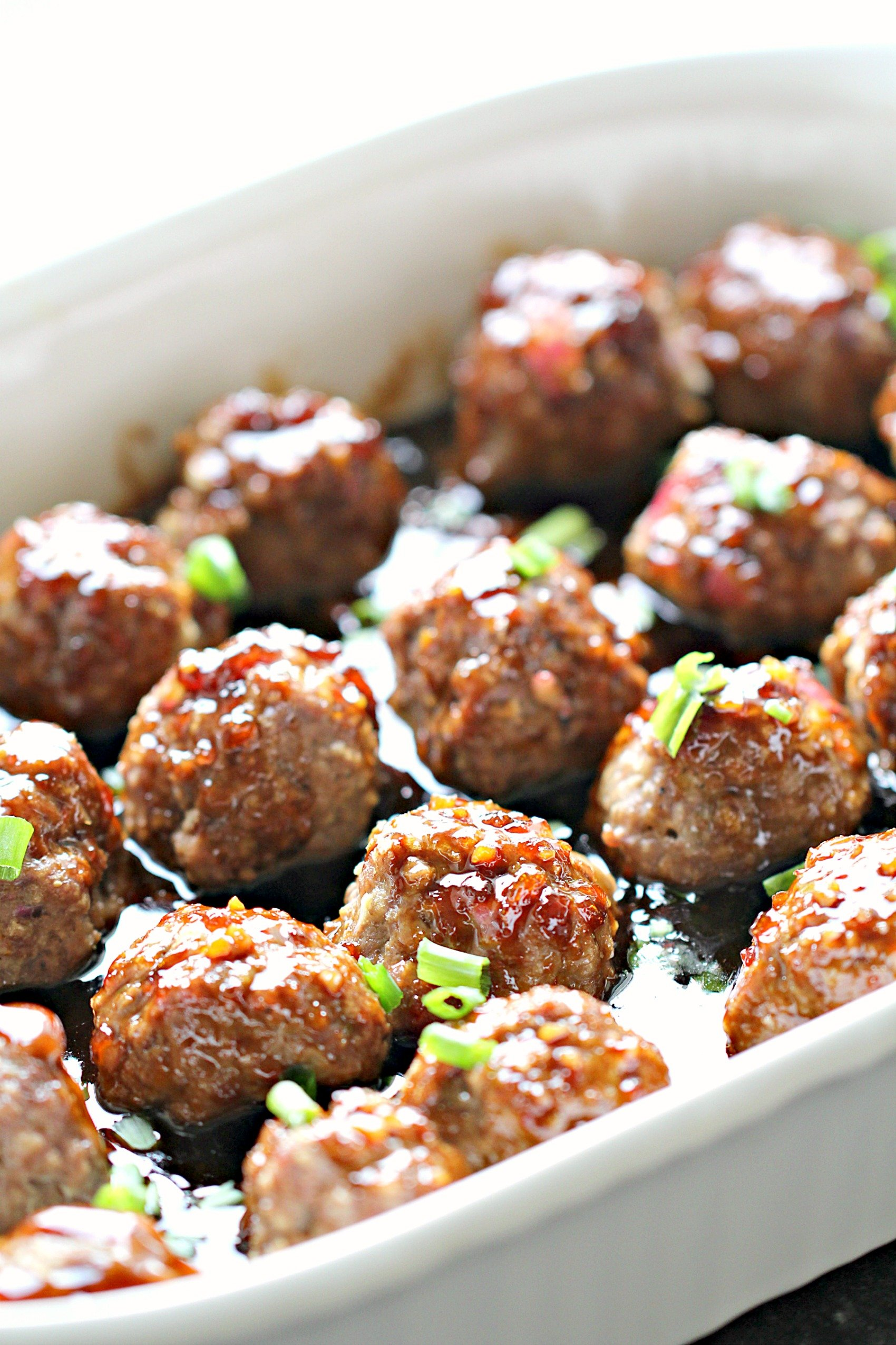 Honey Sriracha Ground Turkey Meatballs Recipe