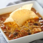 taco soup made with 8 cans in slow cooker