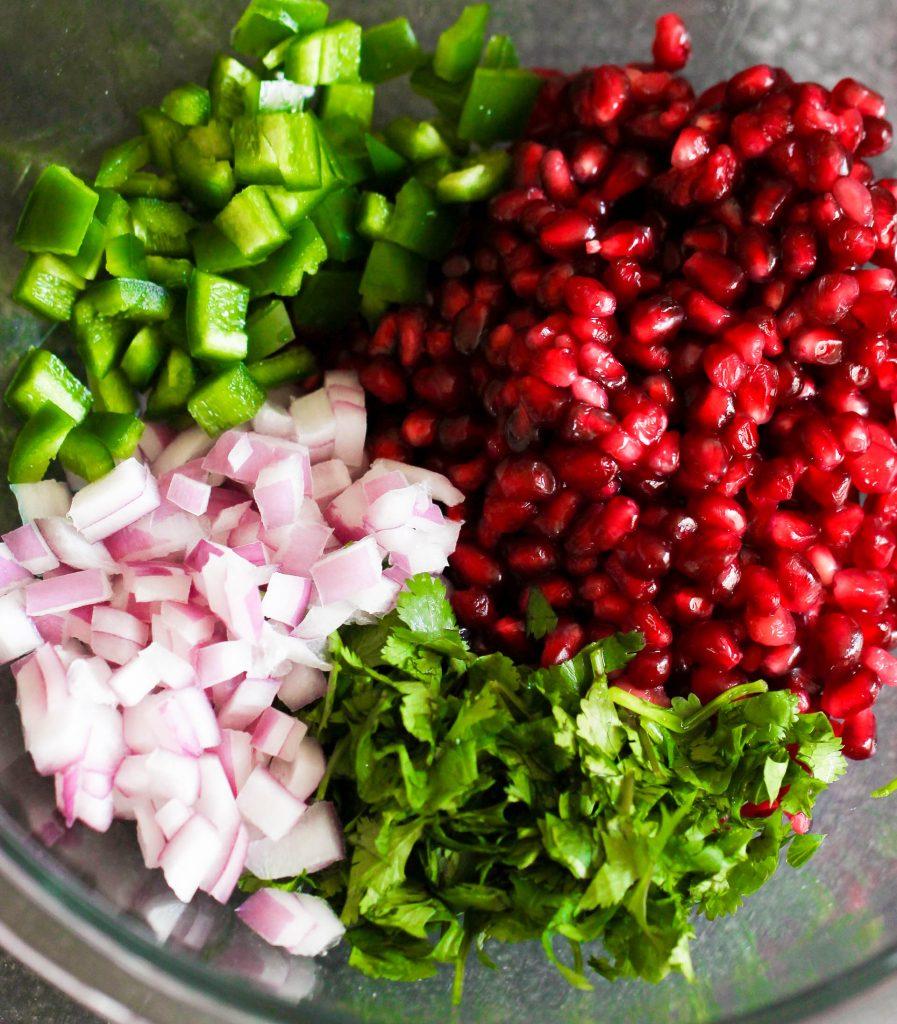 Ingredients Chopped in bowl