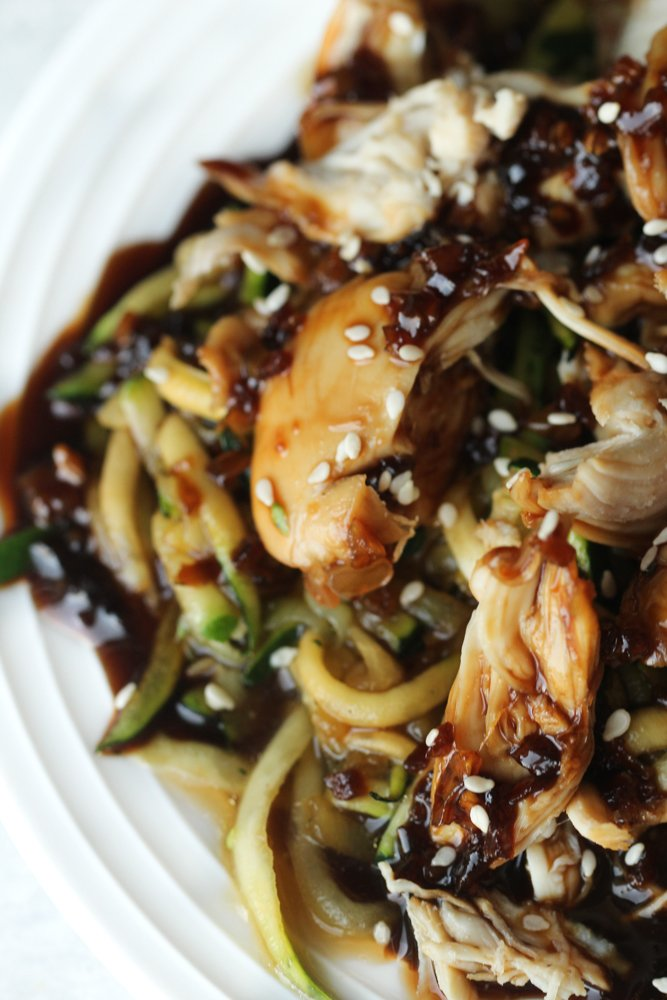Teriyaki Chicken and Zoodles