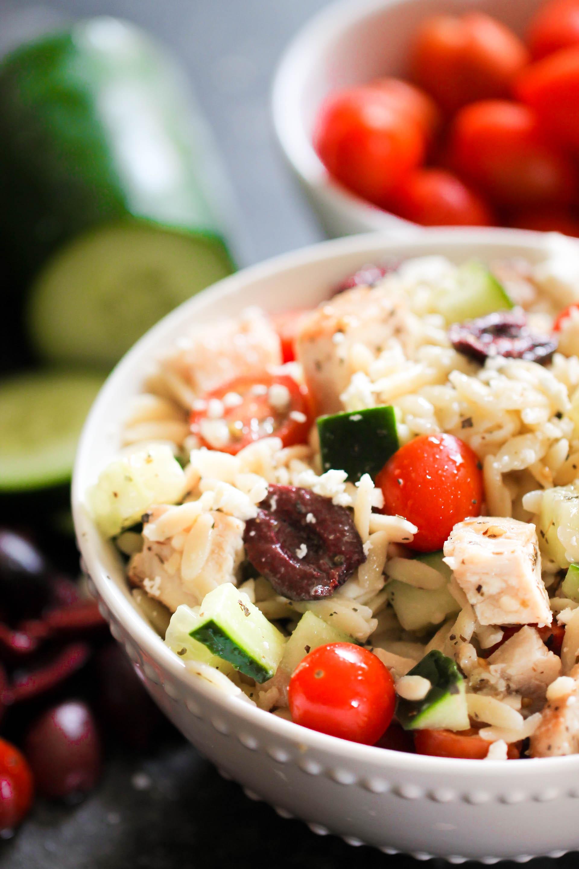 Mediterranean Chicken and Orzo Salad