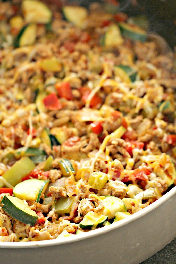 simple dinner ideas, ground turkey mexican skillet