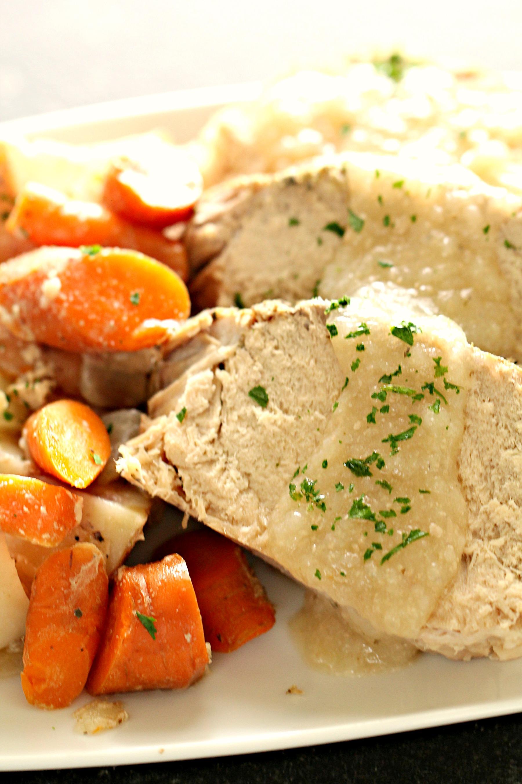 Slow Cooker Herb Pork Roast and Vegetables