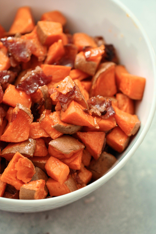 Maple Bacon Sweet Potatoes