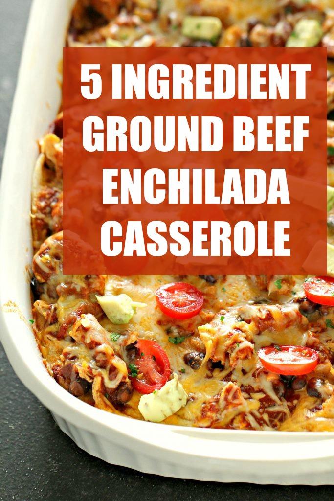 easy beef casserole enchilada-style in baking dish